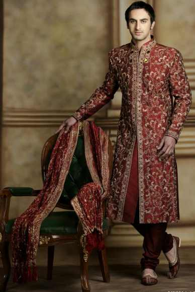 The royal Indian sherwani