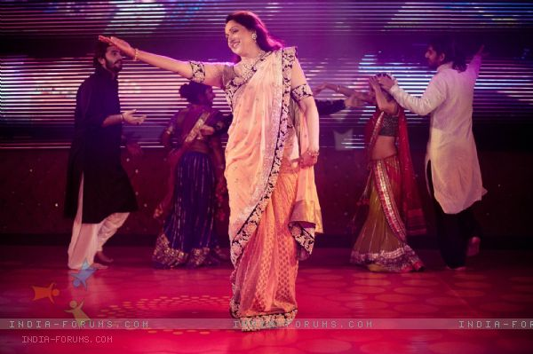 Hema Malini performing at her daughter's sangeet