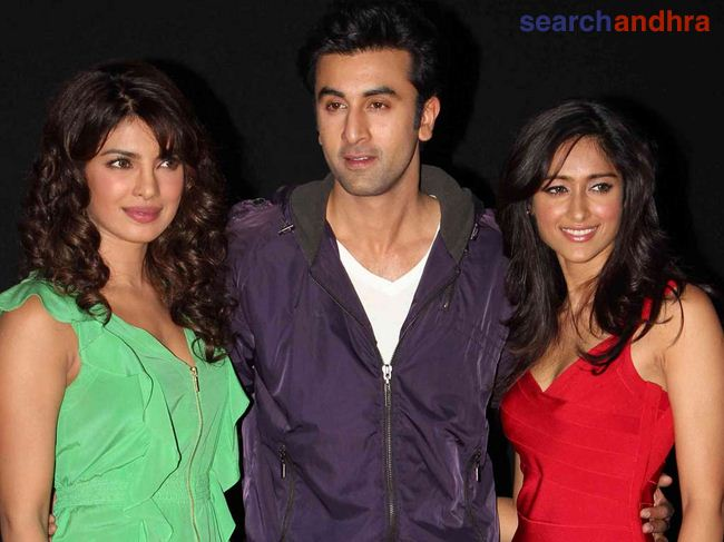 The leading cast of 'Barfi' at the trailer launch