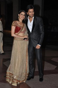 Newly weds - Genelia and Ritesh at Esha's Sangeet