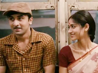 A still from the movie - Ranbir and Ileana