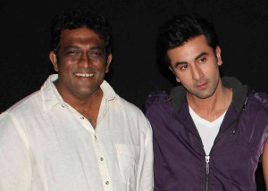 Ranbir Kapoor with Anurag Basu, director of Barfi at the trailer launch party