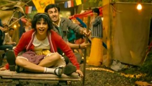 Ranbir Kapoor with Priyanka Chopra - movie shot
