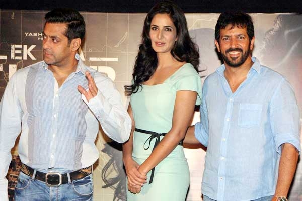 Salman Khan, Katrina Kaif and Kabir Khan at the music launch